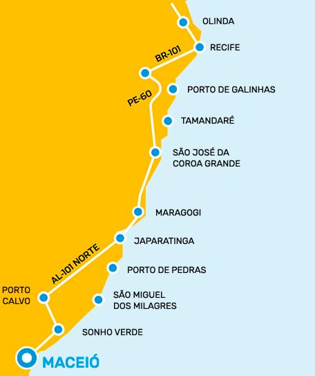 Mapa Maceió