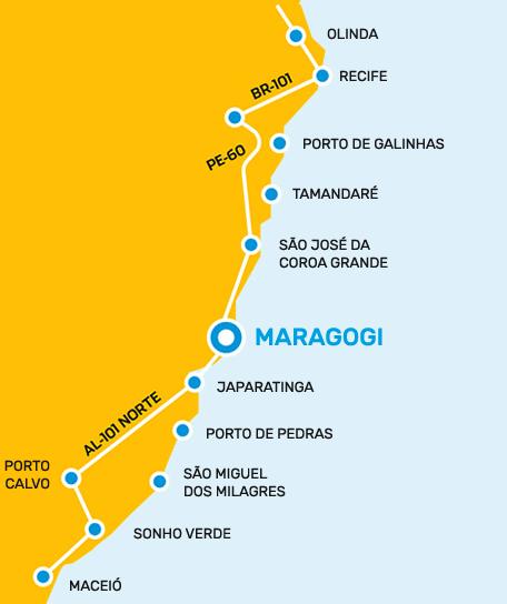 Mapa Maragogi