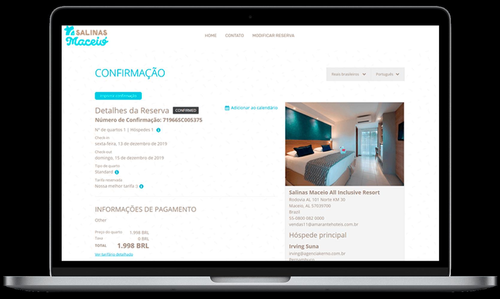 Faça sua reserva | Salinas Maceió All Inclusive Resort