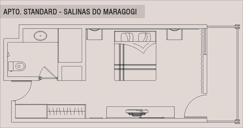 Planta Baixa Apto. Standard Salina Maragogi