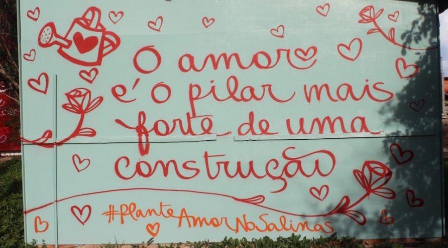 O amor está aumentando - Plante Amor, Colha o Bem no Salinas Maragogi