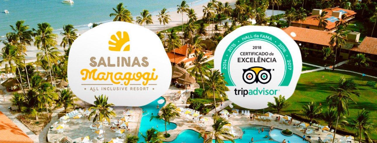 Salinas Maragogi recebe Certificado de Excelência 2018 no Tripadvisor