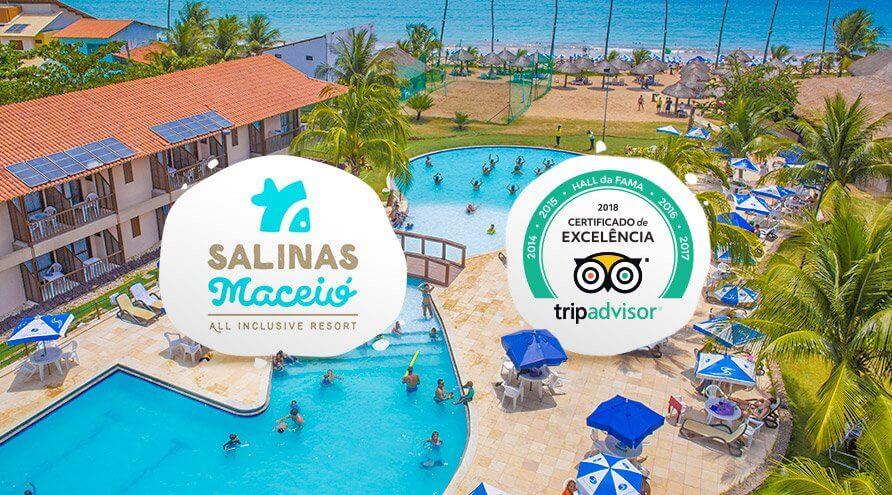 Salinas Maceió recebe Certificado de Excelência 2018 no Tripadvisor